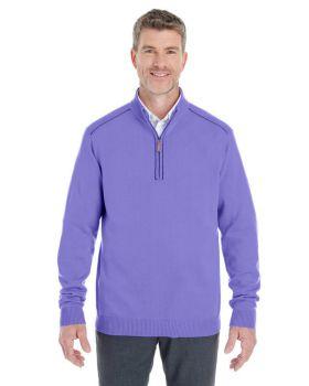Devon & Jones DG478 Men's Manchester Fully-Fashioned Quarter-Zip Sweater