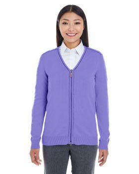 Devon & Jones DG478W Ladies' Manchester Fully-Fashioned Full-Zip Sweater