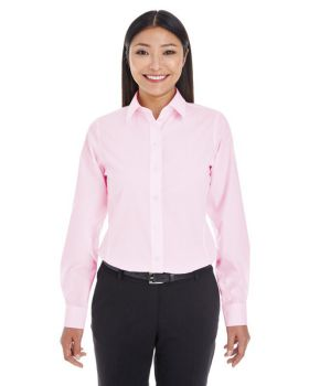 Devon & Jones DG534W Ladies' Crown Woven Collection Striped Shirt