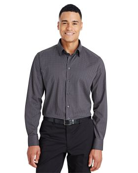 Devon & Jones DG535 CrownLux Performance Men's Tonal Mini Check Shirt