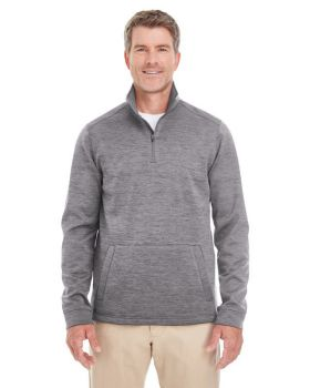 Devon & Jones DG798 Men's Newbury Mélange Fleece Quarter-Zip