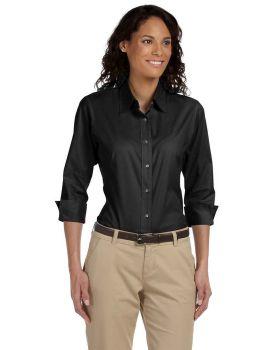 Devon & Jones DP625W Ladies' Perfect Fit 3/4-Sleeve Stretch Poplin Blous ...