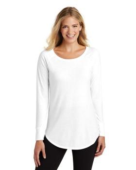 District DT132L Women's Perfect Tri Long Sleeve Tunic T-Shirt