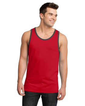 District DT1500 Young Men's Cotton Ringer Tank Top