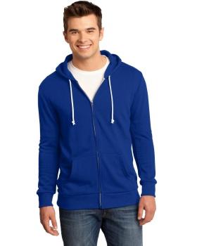 District DT190 Young Mens Core Fleece Full-Zip Hoodie DT190