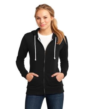 District DT290 Juniors Core Fleece Full-Zip Hoodi