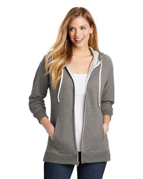 District DT456 Women's Perfect Tri French Terry FullZip Hoodie