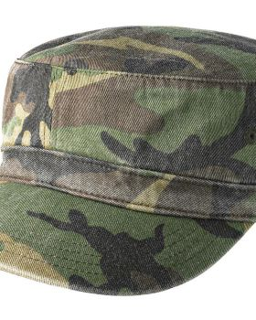 District DT605 Distressed Military Hook and loop Closure Caps