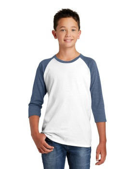 District DT6210Y Youth Very Important Tee 3/4 Sleeve