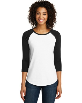 District DT6211 Women's Fitted Very Important Tee 3/4 Sleeve Raglan