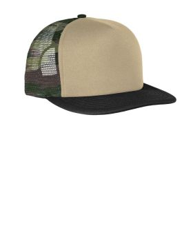 'District DT624 Flat Bill Snapback Trucker Cap'
