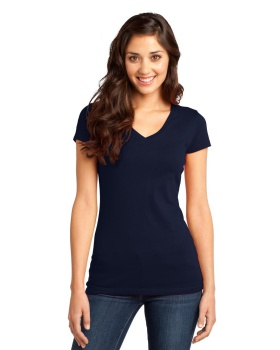 District DT6501 Juniors Very Important V Neck T-Shirt