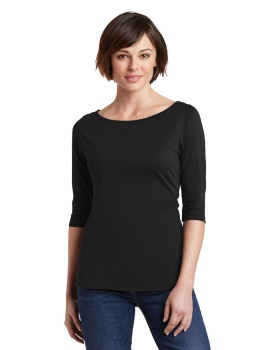 'District DM107L Women's Perfect Weight 3/4-Sleeve Tee'