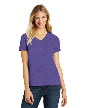 District Made DM1190L Ladies Perfect Blend V Neck T-Shirt