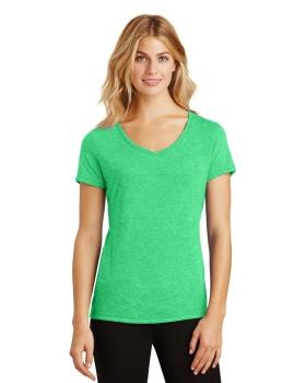 District Made DM1350L Ladies Perfect Tri V Neck T-Shirt