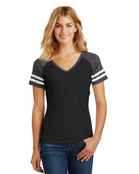 District Made DM476 Ladies Game V Neck T-Shirt