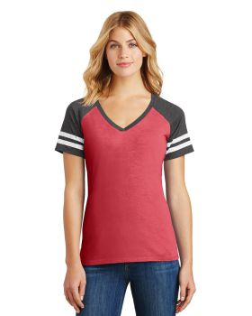 District Made DM476 Ladies Game V Neck T-Shirt