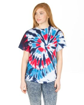 Dyenomite 200TD Short Sleeve Rainbow Cut-Spiral T-Shirt