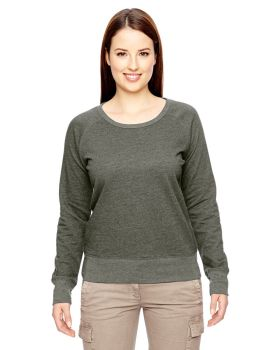 econscious EC4505 Ladies' Organic/Recycled Heathered Fleece Raglan Pullo ...