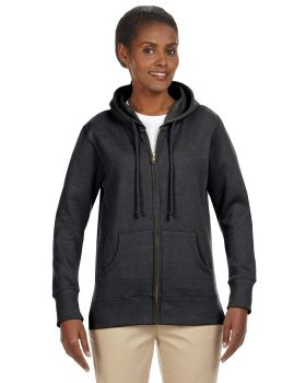 econscious EC4580 Ladies' Organic/Recycled Heathered Fleece Full-Zip Hoo ...