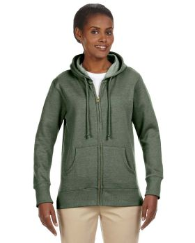 econscious EC4580 Ladies' Organic/Recycled Heathered Fleece Full-Zip Hoo ...