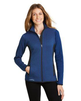 Eddie Bauer EB239 Ladies FullZip Heather Stretch Fleece Jacket