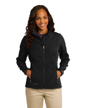 Eddie Bauer EB533 Ladies Shaded Crosshatch Soft Shell Jacket