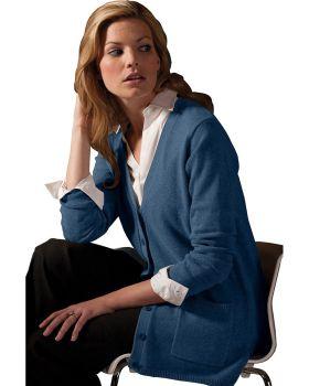 Edwards 119 Ladies V Neck Long Cardigan Sweater