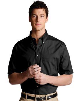 Edwards 1230 Men's Easy Care Short Sleeve Poplin Tall Shirt