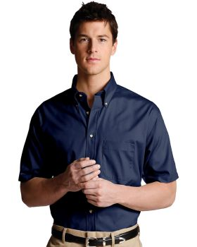 Edwards 1230 Men's Easy Care Short Sleeve Poplin Tall Shirt