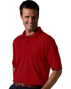 Edwards 1510 Blended Pique Short Sleeve Polo With Tipped Collar/Sleeve