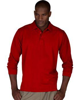 Edwards 1515 Blended Pique Long Sleeve Polo Shirt