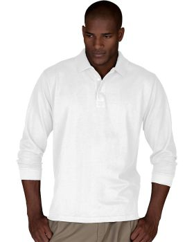 Edwards 1515 Blended Pique Long Sleeve Polo Shirt