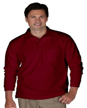Edwards 1525 Blended Pique Long Sleeve With Pocket Polo Shirt