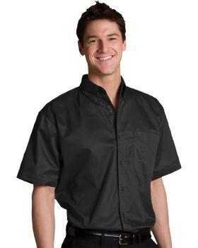 Edwards 1740 Men's Tall Cotton plus Short Sleeve Twill Shirt