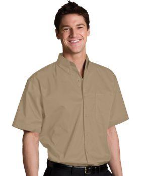 Edwards 1740 Men's Tall Cottonplus Short Sleeve Twill Shirt