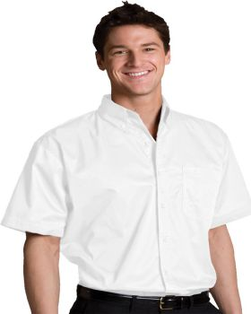 Edwards 1740 Men's Tall Cotton plus Short Sleeve Twill Shirt