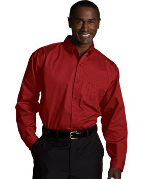 Edwards 1750 Men's Tall Cotton plus Long Sleeve Twill Shirt