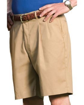 Edwards 2410 MenBusiness Casual Pleated Chino Short