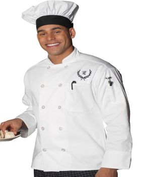 Edwards 3301 10 Button Long Sleeve Chef Coat