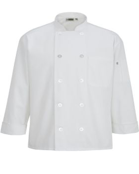 Edwards 3363 10 Button Chef Coat With Mesh