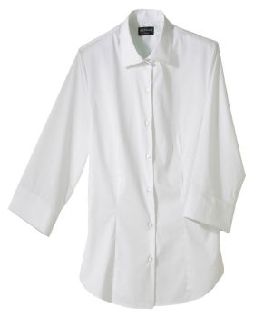 Edwards 5033 Ladies' Tailored Full-Placket Stretch Blouse-3/4 Sleeve