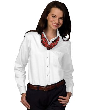 Edwards 5077 Ladies Cotton Polyester Long Sleeve Oxford Shirt