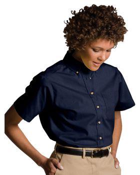 Edwards 5230 Ladies Easy Care Short Sleeve Poplin Shirt