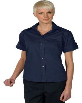 Edwards 5245 Ladies' Lightweight Short Sleeve Poplin Blouse