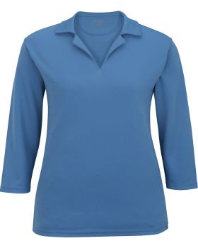 Edwards 5581 Ladies' Performance Flat-Knit Quarter Sleeve Polo
