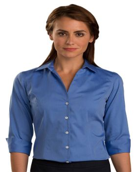 Edwards 5976 Ladies' Oxford Wrinkle-Free Dress Blouse - Quarter Sleeve