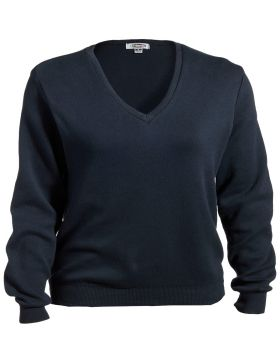 Edwards 7090 Ladies' V-Neck Cotton Sweater