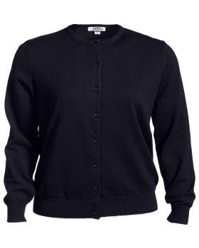 Edwards 7111 Ladies' Jewel Neck Cotton Cardigan Sweater