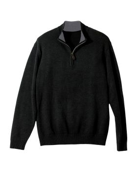 Edwards 712 Quarter Zip Cotton Blend Sweater